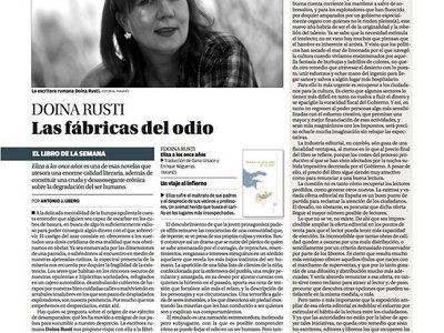 Review about Lizoanca (Eliza a los once annos) by Doina Ruști. La Opinion de Murcia, Spania