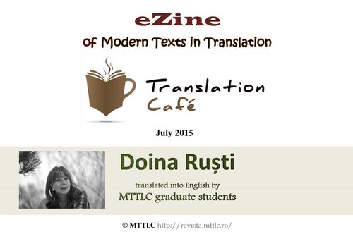 Manuscrisul fanariot la Translation Café - Doina Ruști